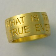 Other Rings 3-6: Wide yellow gold band with words of endearment