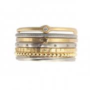 18kt. yellow and white gold Seven rings of Joy stacking rings