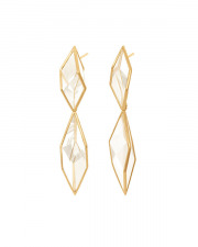 Antonio Bernardo 18kt. yellow gold Brinco Prisma rock crystal earrings