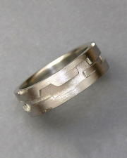 Bands 1-8: Platinum band with geometric cutouts