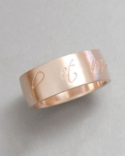 Bands 4-8: 14kt. rose gold custom band with initials