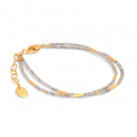 24karat Gold Plated Sterling Silver and Labradorite bracelet