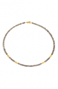 24karat Gold Plated Sterling Silver and Labradorite Necklace