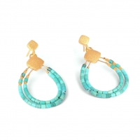 24karat Gold Plated Sterling Silver and Turquoise Earrings