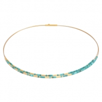 24karat Plated Sterling Silver and Turquoise Necklace