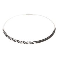Sterling Silver and Hematine Necklace