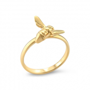 14K Yellow gold Bee Ring