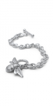 Sterling Silver bracelet with large Bee