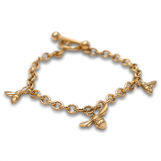 14K Yellow gold Bracelet with Bees