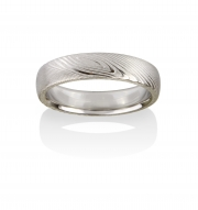 Pathways Naked Damascus Stainless Steel ring