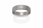 Trees pattern Naked Damascus Stainless Steel ring