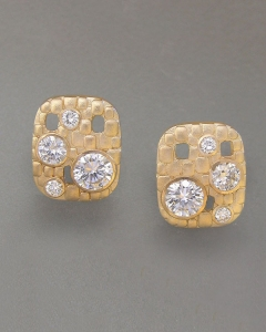 14kt. white gold diamond earrings on French wire