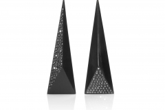 18karat YG _ Whitby Jet Earrings set with Black Diamonds