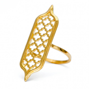 18k Yellow gold Jali Tablet Ring