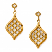 18k Yellow gold Small Jali Drop Earrings