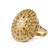 18k Yellow gold _ Diamond Mandala Ring