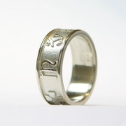 14k White gold Customized Symbol band