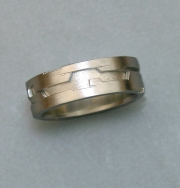 Platinum Geometric cut out band