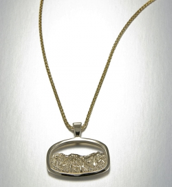 14kt. yellow gold Breckenridge Pendant featuring peaks 8,9 & 10