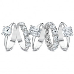 Silk Fit Engagement rings and Wedding bands available in White gold, Platinum, Yellow gold or Rose gold