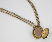 14k Yellow gold, Enamel _ Rose cut Diamond Locket, Circa 1880(1)