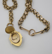 Bloomed 14k Yellow gold Memorial Locket on Chain