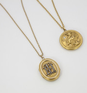 Griffin _ Monogrammed Lockets circa 1900